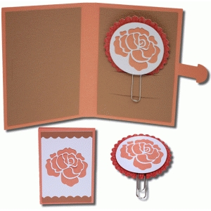 rose planner clip and folder