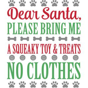 dear santa - the dog