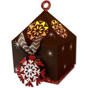 snowflake lantern top cookie box (flameless)