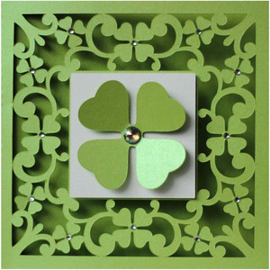 5x5 clovers flourish card