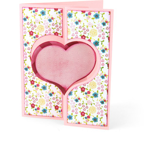 flip flap card heart