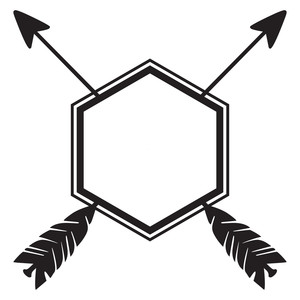 hexagon arrow frame