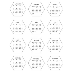 2017 hexagon calendar