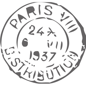 echo park vintage paris stamp