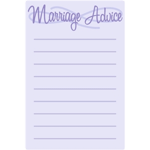 marriage advice postcard
