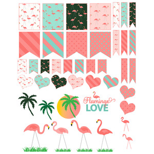 lawn flamingo planner stickers