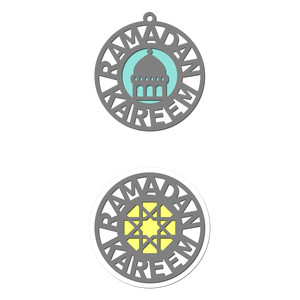 ramadan ornament topper tag