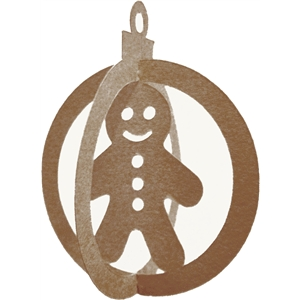 3d christmas ornament-gingerbread boy