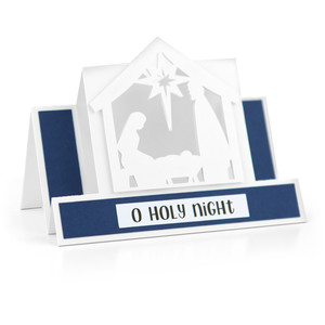 center step card nativity