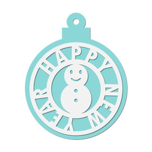 winter decor / tag - snowman