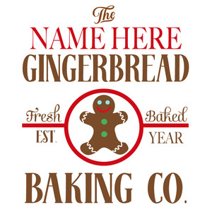 custom gingerbread baking sign