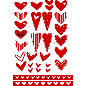 hearts come in all shapes valentine planner stickers