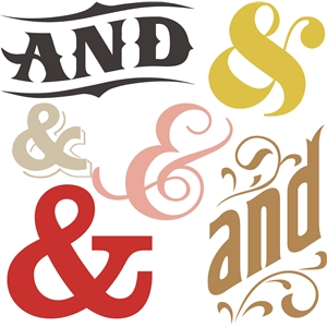 and ampersand set