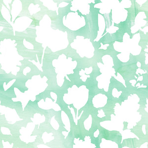 simple floral silhouette pattern