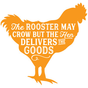 rooster delivers the goods