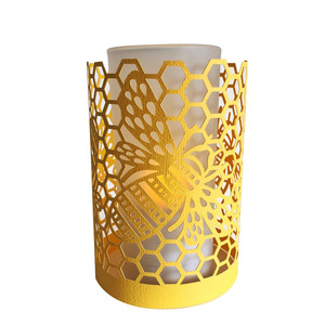 honey bee papercut lantern
