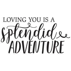 loving you is a splendid adventure quote