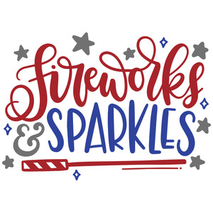fireworks and sparkles