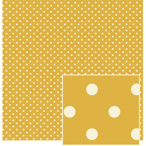 gold and creme polka dot pattern