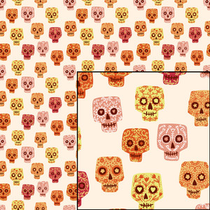 mexican day of the dead sugar skull pattern