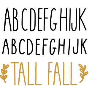 tall fall font