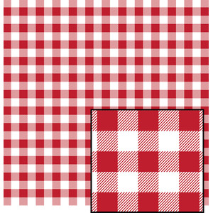 red and white buffalo plaid pattern