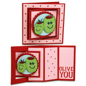 olive you window lever card