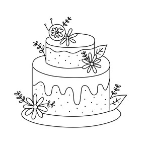 sketch wedding cake