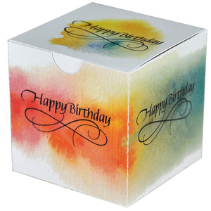 happy birthday watercolour box