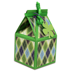 four leaf clover milk carton box