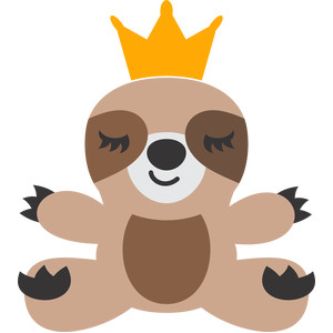 sloth and crown