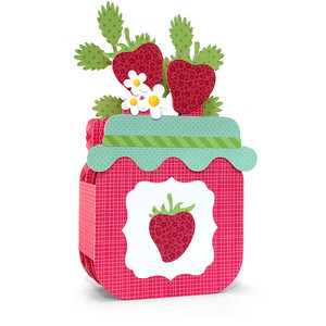 box card strawberry jam