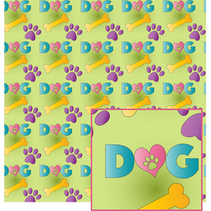 colorful dog pattern