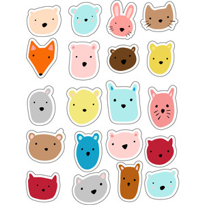 ml colorful animal heads stickers