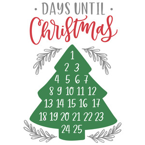 days until christmas tree