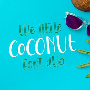 the little coconut font duo
