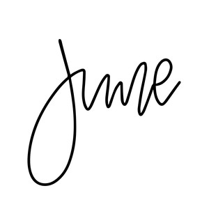 hand lettered month - june