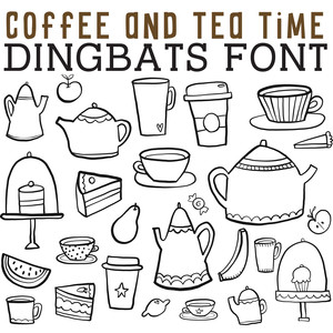 cg coffee and tea time dingbats