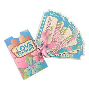 valentine love coupons w/sleeve