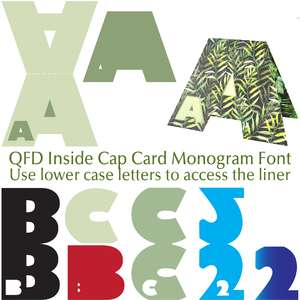 qfd inside cap card monogram font