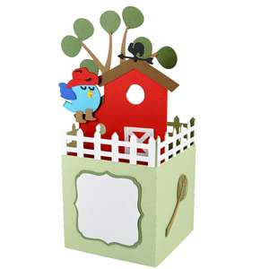 farmyard birdhouse card in a box