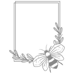 leafy bee frame