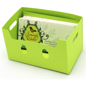 apple crate/business card box