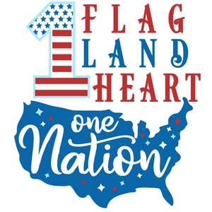1 flag land heart nation