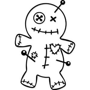 voodoo doll drawing