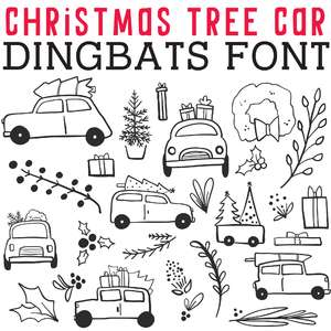 cg christmas tree car dingbats