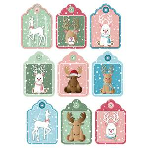 reindeer-themed gift tags