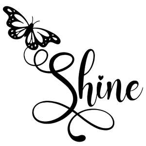 shine butterfly word