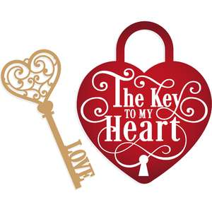 key to my heart padlock