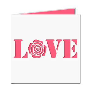 love word rose cad